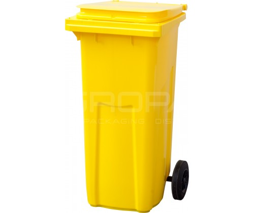 Мусорный контейнер 120 л. желтый