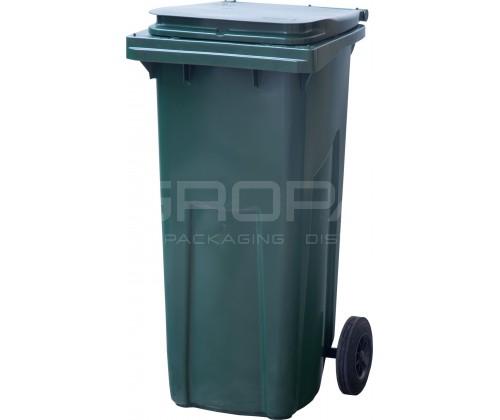 Мусорный контейнер 120 л. зеленый