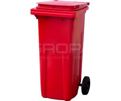 Мусорный контейнер 120 л. красный