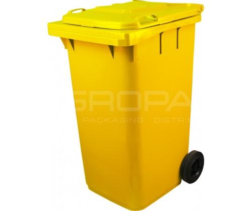 Мусорный контейнер 240 л желтый