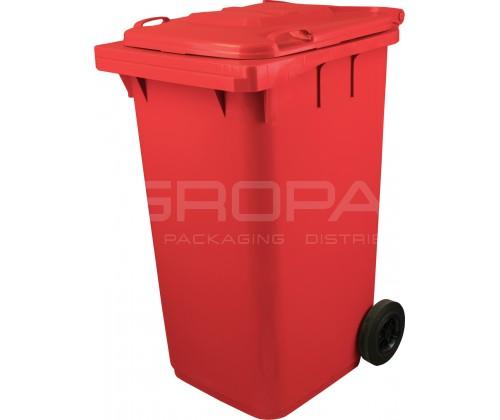 Мусорный контейнер 240 л красный