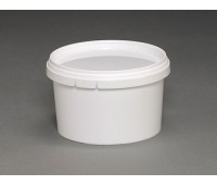Ведро круглое пластиковое 0,65л (с крышкой, без ручки)