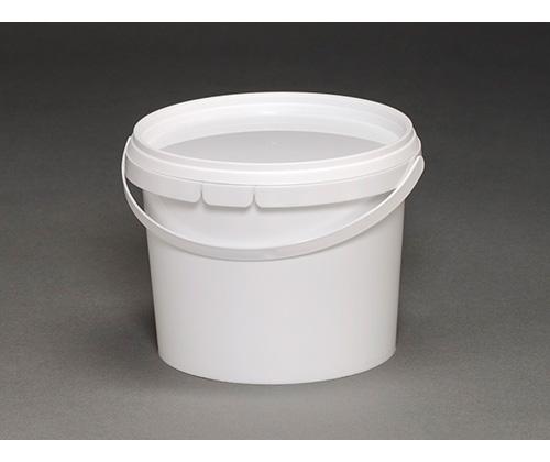 Ведро круглое пластиковое 0,85л(с крышкой и ручкой)