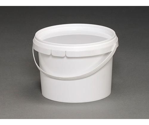 Ведро круглое пластиковое 0,8л(с крышкой и ручкой)