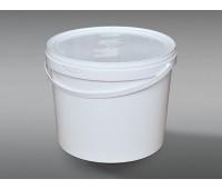 Ведро круглое пластиковое 11,5л(с крышкой и ручкой)
