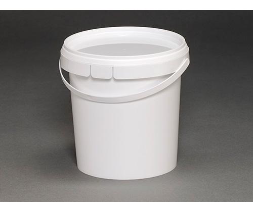 Ведро круглое пластиковое 1,18л(с крышкой и ручкой)