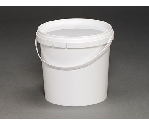 Ведро круглое пластиковое 1л (с крышкой и ручкой)