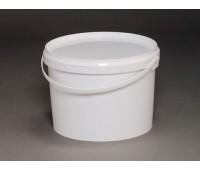 Ведро круглое пластиковое 2,5л (с крышкой и ручкой)
