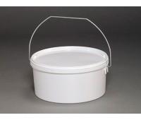 Ведро круглое пластиковое 2,75л (с крышкой и ручкой)
