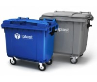 Мусорный контейнер 1100 л с логотипом